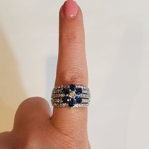 NWT LeVian Blueberry Sapphire Ring